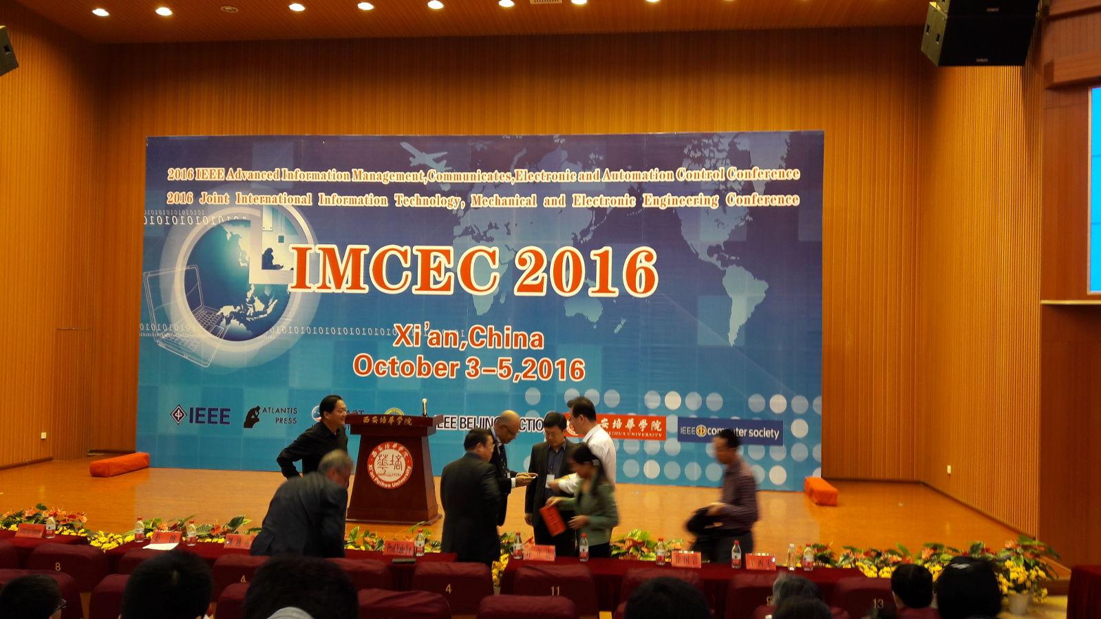 IMCEC 2016 in Xi'an